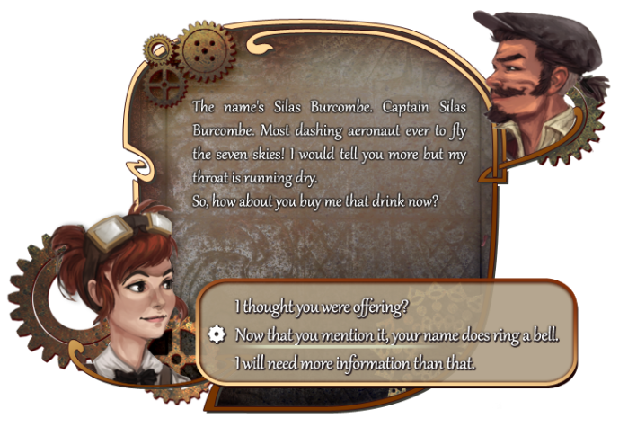 A sample of how the dialogue will look like in Cedaria.