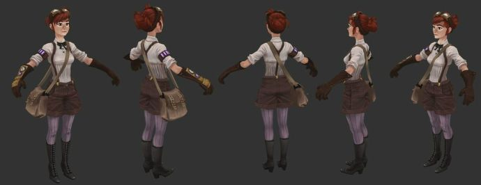 And here's the 3D model of Josephine. I think our artist did a fantastic job with her!